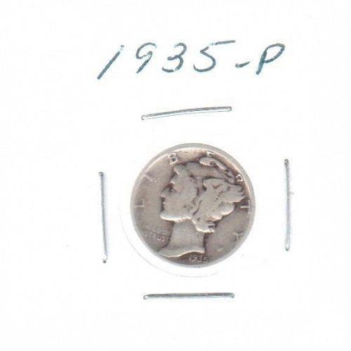 1935 P Mercury Dime - Circulated Coin