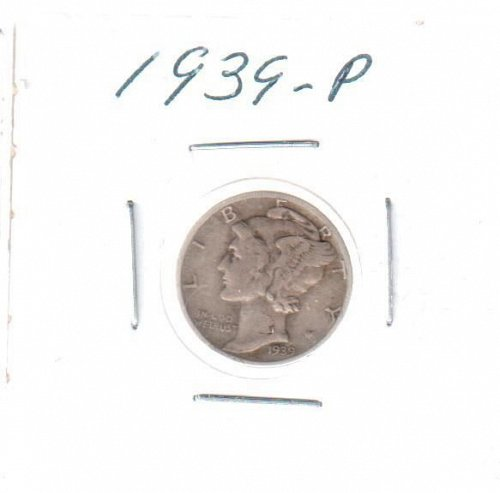 1939 P Mercury Dime - Circulated Coin