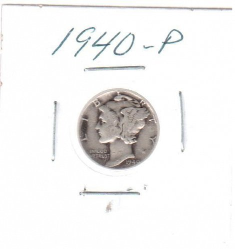 1940 P Mercury Dime - Circulated Coin