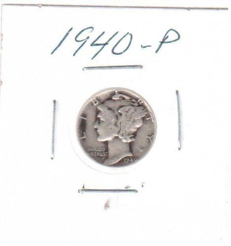 1940 P Mercury Dime - Circulated Coin