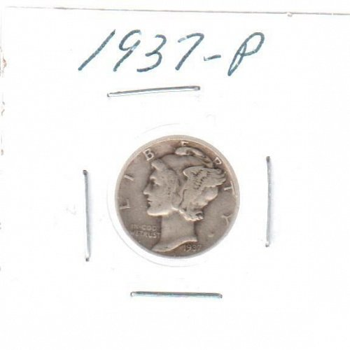 1937 P Mercury Dime - Circulated Coin