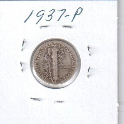 1937 P Mercury Dime - Circulated Coin