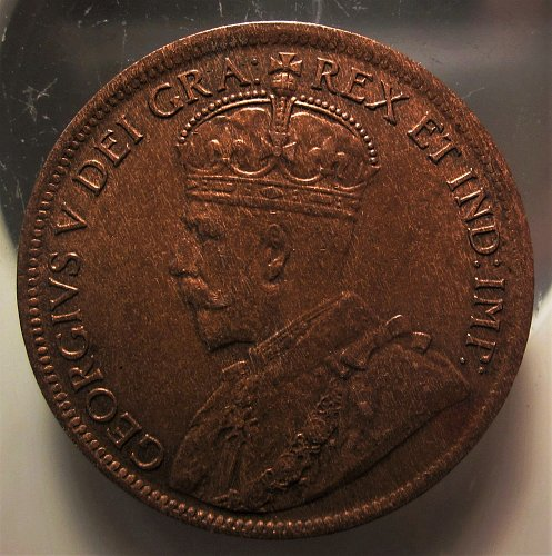 1919 CANADA LARGE CENT NICE GRADE Small Stain near- Shoulder and Rim