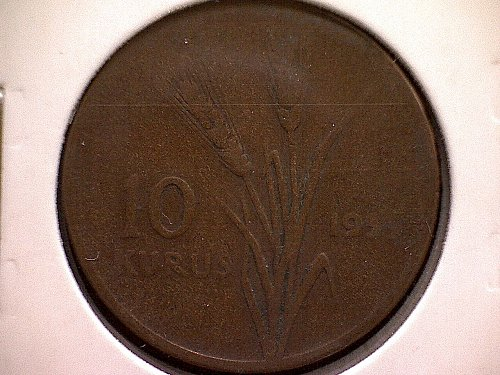 1959 TURKEY TEN KURUS