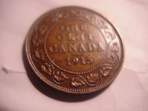 1915 large cent canada  ...nice