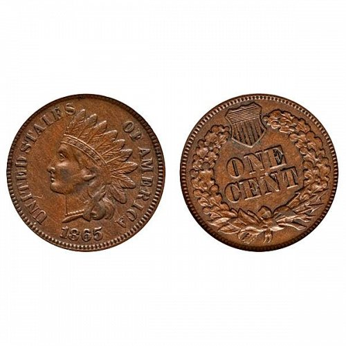 1865 Indian Head Cent - AU