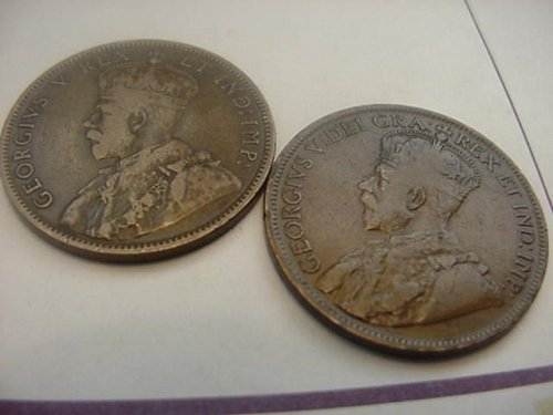 2-canada large cents 1911 and 1918