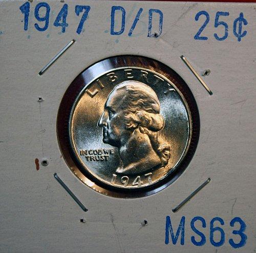 1947 D/D Washington Quarter