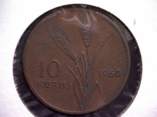 1960 TURKEY TEN KURUS