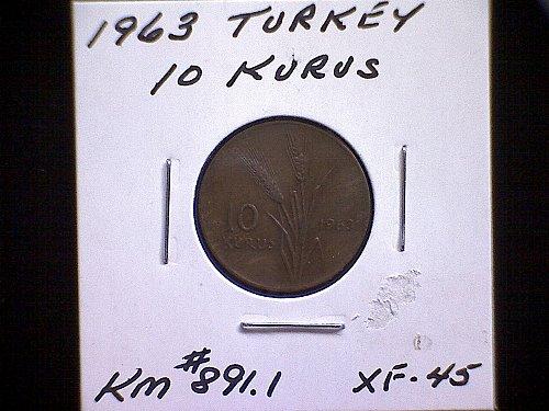 1963 TURKEY TEN KURUS