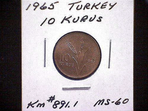 1965 TURKEY TEN KURUS