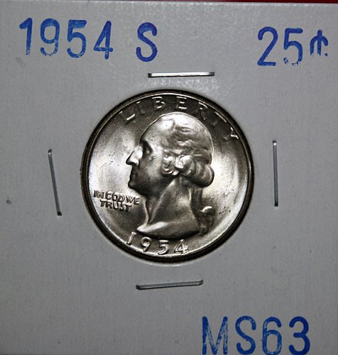 1954 S Washington Quarter