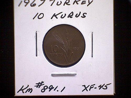 1967 TURKEY TEN KURUS