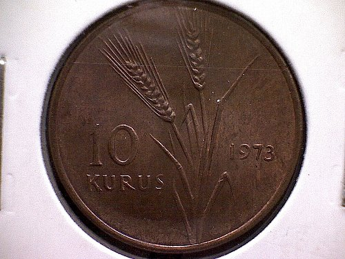 1973 TURKEY TEN  KURUS