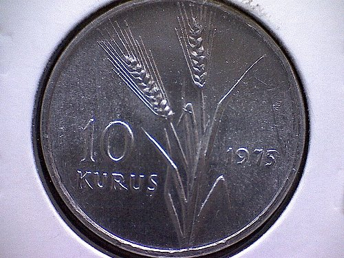 1975 TURKEY TEN KURUS