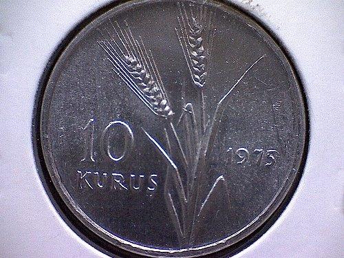 1975 TURKEY TEN KURUS