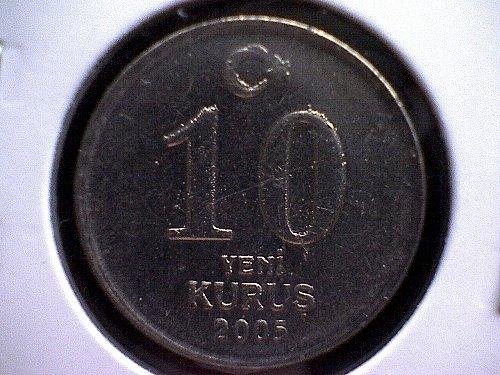 2005 TURKEY TEN NEW KURUS