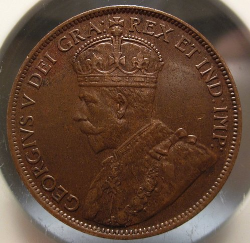 1913 CANADA LARGE ONE CENT NICE GRADE   Spot on DEI