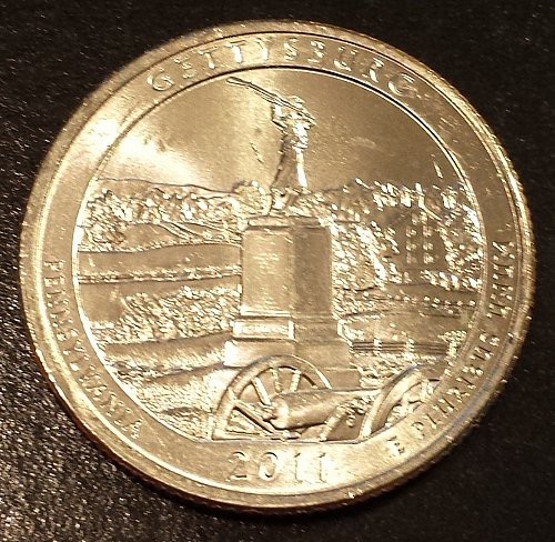2011-P Gettysburg National Park Quarter - From Mint Roll (6114)