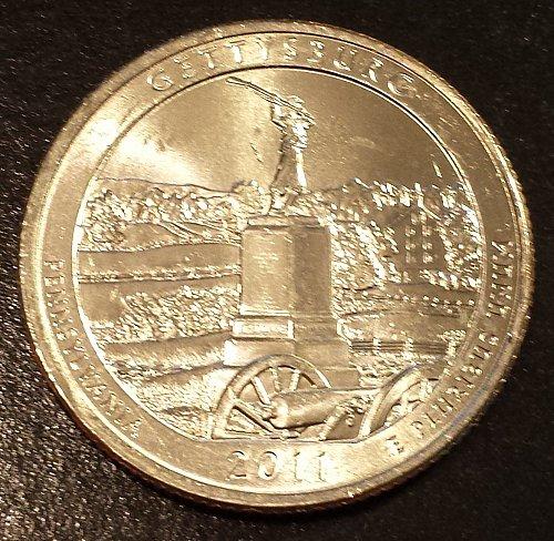 2011-P Gettysburg National Park Quarter - From Mint Roll (6114)