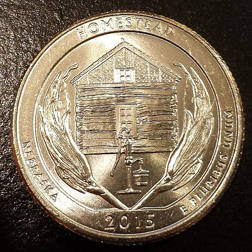 2015-P Homestead National Monument Quarter - From Mint Roll (6117)