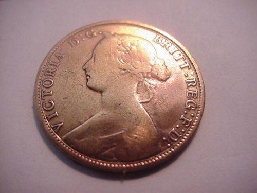 1861 canada  nova scotia cent cleaned