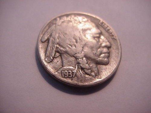 1937 buffalo nickel  nice