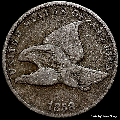 Nice Estate Find!! 1858 Flying Eagle Small Cent!!