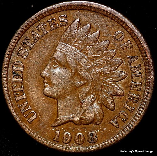 1908-P Nice Grade Indian Head Cent!!