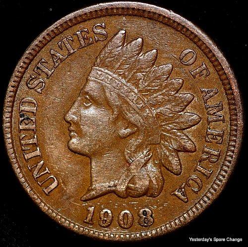 1908-P Nice Grade Indian Head Cent!!