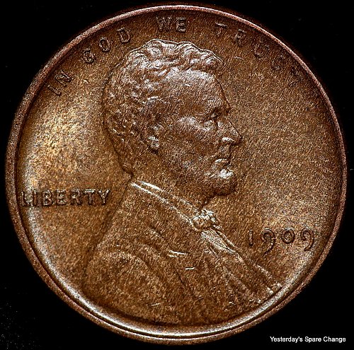 1909-P VDB Nice High Grade Lincoln Wheat Cent!!