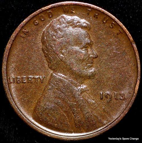 1913-P Nice Grade Lincoln Wheat Cent!!