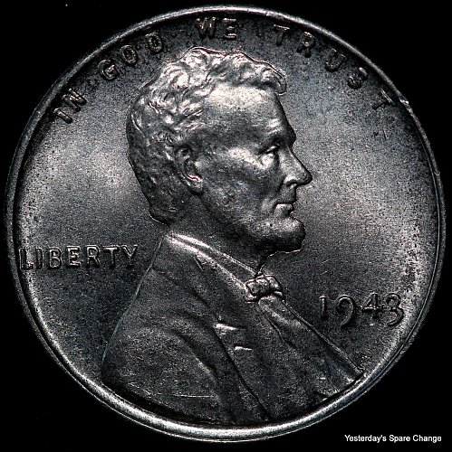 """1943-P Nice High Grade """"War-time"""" Steel Lincoln Wheat Cent!!"""