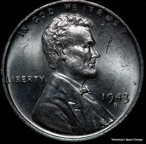 """1943-S Nice High Grade """"War-time"""" Steel Lincoln Wheat Cent!!"""