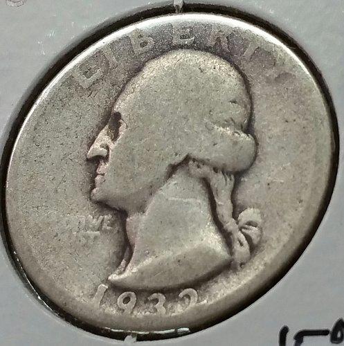 1932 D Washington Quarter - AG