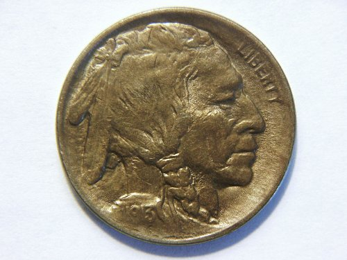 1913-P Type 1 Raised Mound Buffalo Nickel