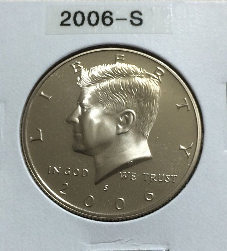 2006-S Kennedy half dollar clad proof