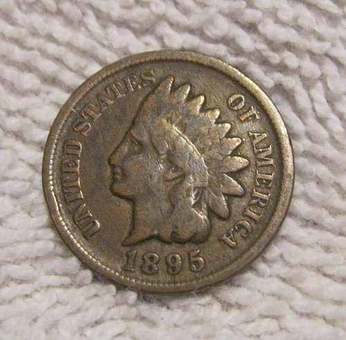 1895 INDIAN HEAD CENT, PARTIAL LIBERTY