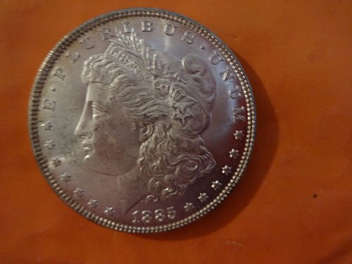 MORGAN SILVER DOLLAR 1885-PHILADELPHIA MS 63 CHOICE BU NATURAL TONING