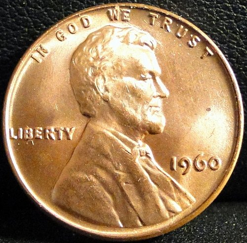 "1960 ""Small Date"" Lincoln Memorial Cent (UNC)"