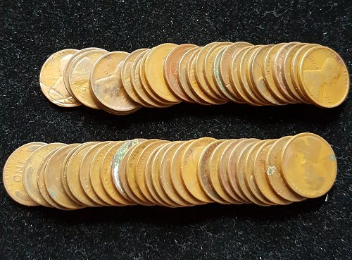 Full Roll of Pre 1920 Wheat Cents