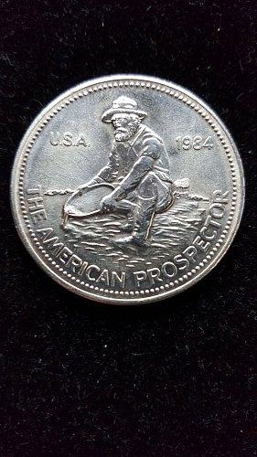 1984 Silver Engelhard .999 Fine Silver Prospector Round