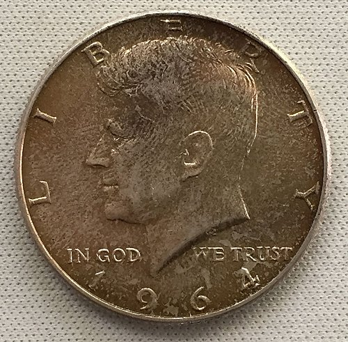1964 D Kennedy Half Dollar - Toned