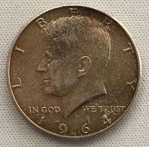 1964 D Kennedy Half Dollar - Toned