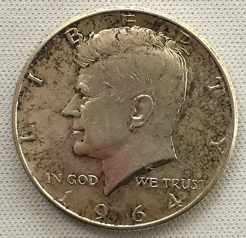1964 P Kennedy Half Dollar - Toned