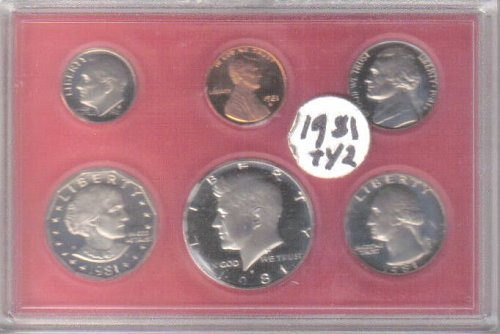 1981 TYPE II  PROOF SET -  CLEAR  'S'