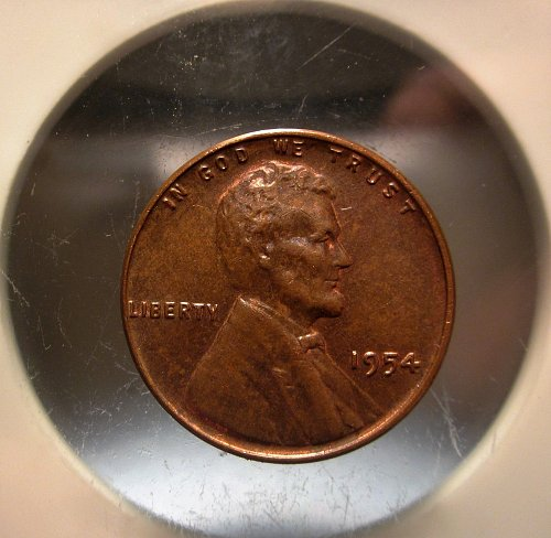 1954 Lincoln Cent Small Cents – Nice Penny - some luster still shows