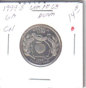 1999 S  PROOF GEORGIA STATE  QUARTER
