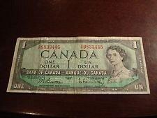 1954 one dollar bill canada