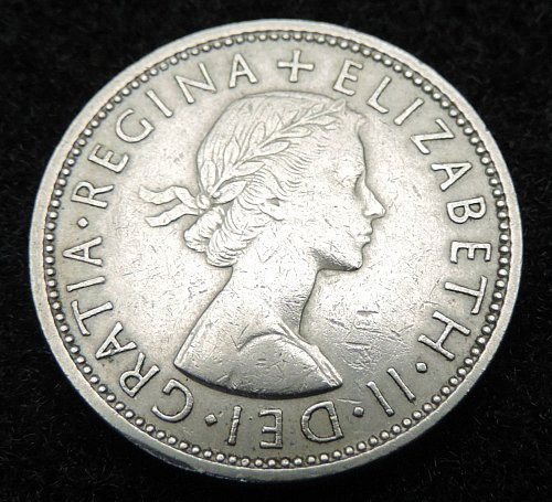 1963 Two Schillings United Kingdom KM#906 Queen Elizabeth First Portait